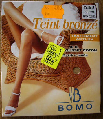 photo collant bomo teint bronze
