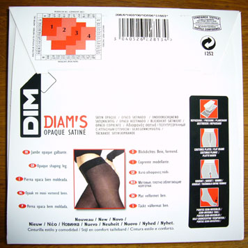 collant dim diams opaque satine