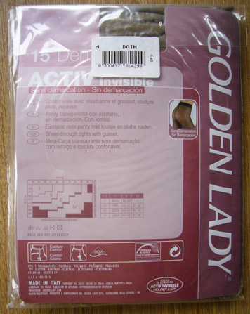 photo collant golden lady activ invisible