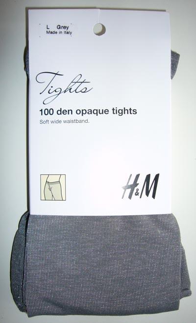 collant H&M opaque 100D gris