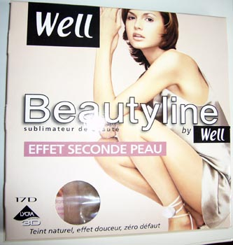 collant Well Beautyline effet seconde peau beige miel