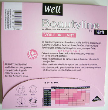 photo collant well beautyline voile brillant
