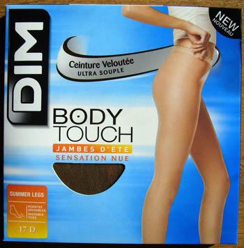 collant legging bas dim body touch jambes d'été