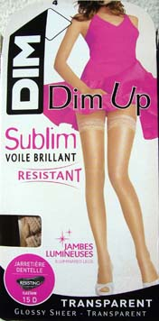 collant legging bas dim up sublim voile brillant