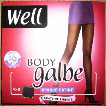 collant bas well body galbe opaque satine