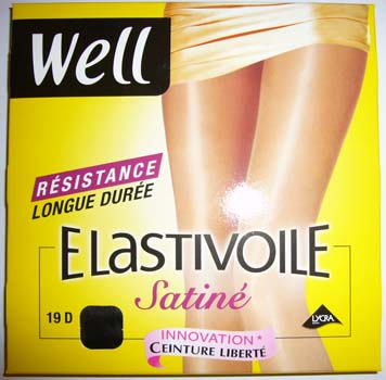collant legging bas well elastivoile satiné noir